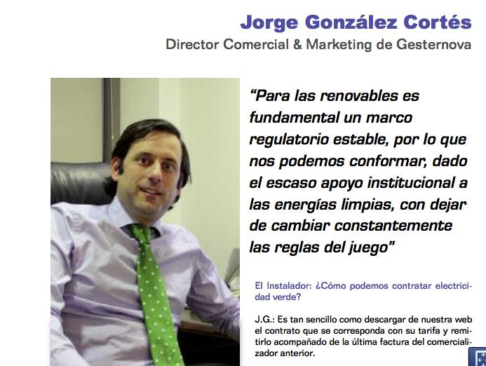 Entrevista Jorge González Gesternova