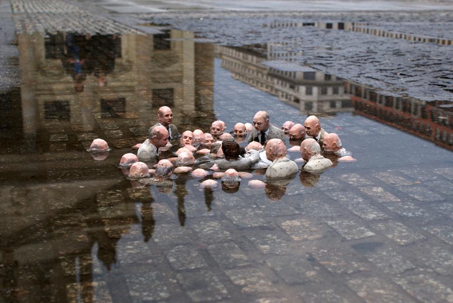 Isaac Cordal y el Cambio climático