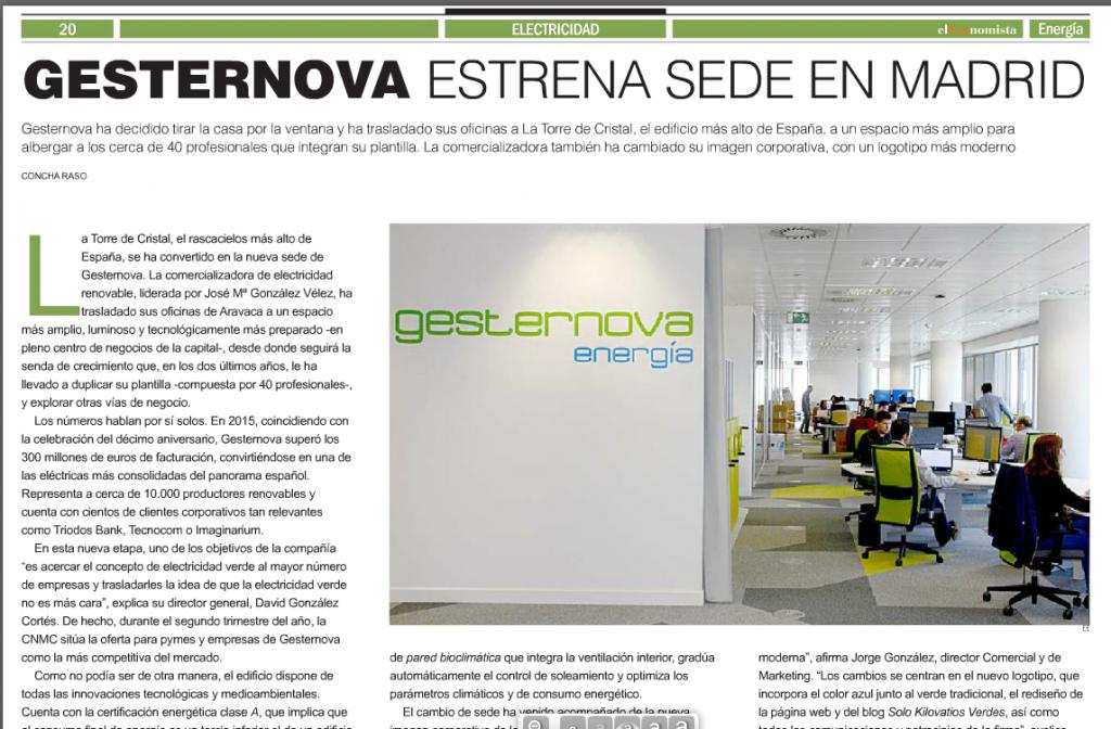 """Gesternova estrena sede"" por Concha Raso"