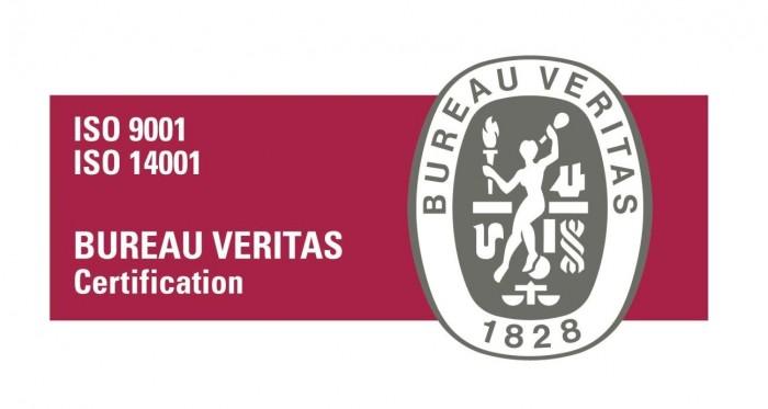 Certificacion ISO 9001 e ISO 14001 emitidada por Burea Veritas para Gesternova