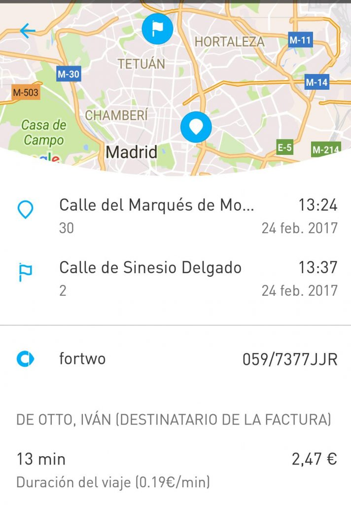Car2go, alternativa barata y sostenible