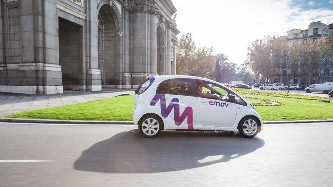 Servicio de carsharing emov en la ciudad de Madrid