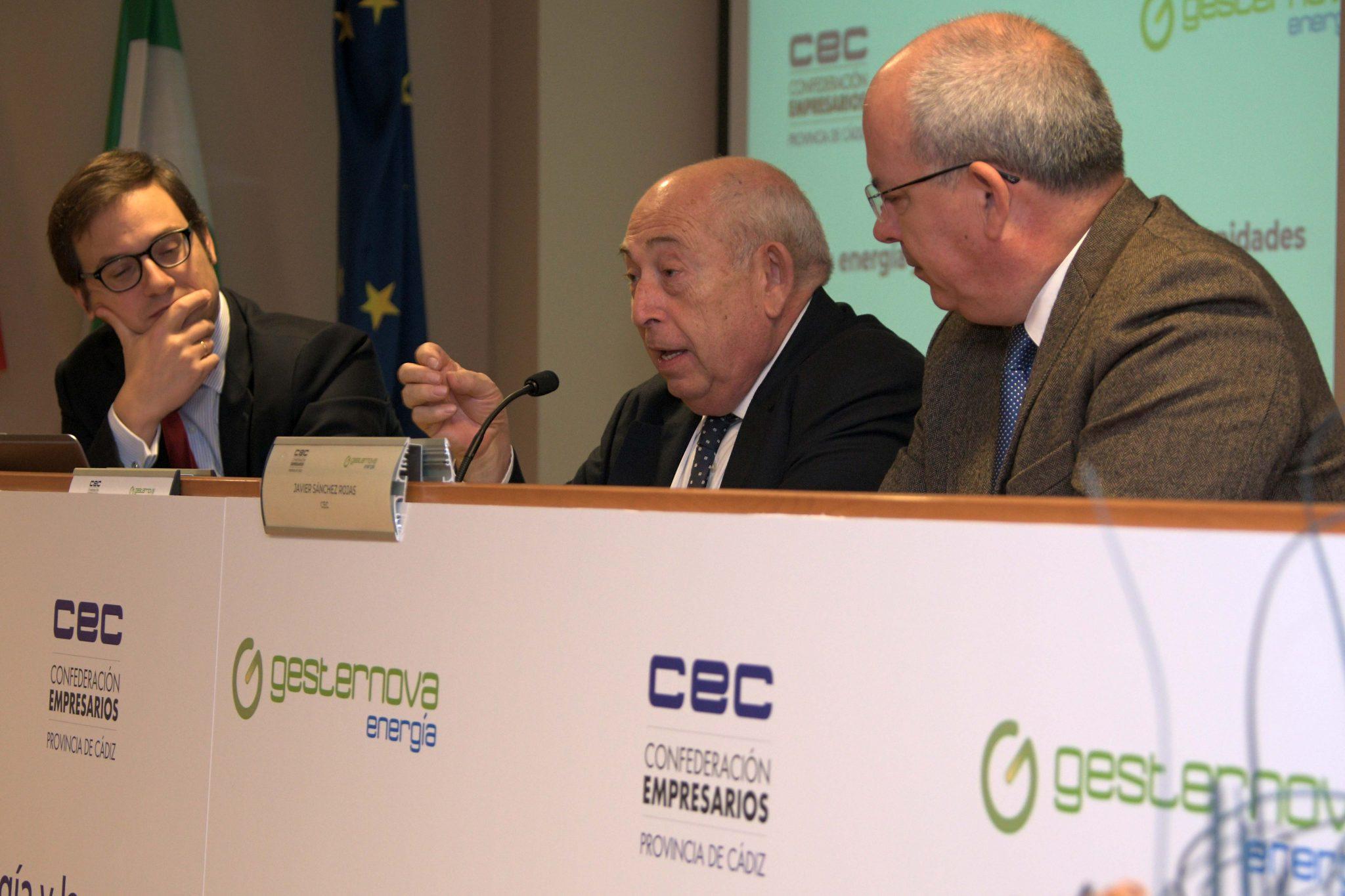 Víctor Silva, CLO Gesternova, José María González Vélez, Presidente de Gesternova y Javier Sánchez Rojas, Presidente de la CEC